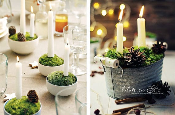 Como presentar las velas en tu mesa navide a - Adornar la mesa para navidad ...
