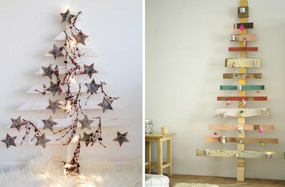 Árboles de Navidad con tablas