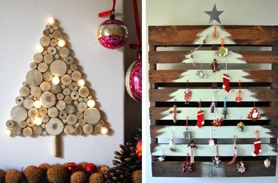 Árboles de Navidad en madera