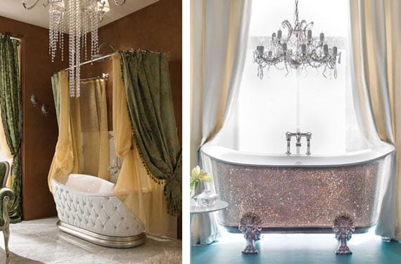 Bañeras en estilo lujoso
