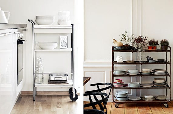 Carritos de cocina o camareras pr cticos y c modos for Mesa carrito auxiliar de cocina