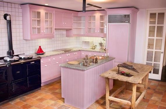 Cocinas rústicas en lila