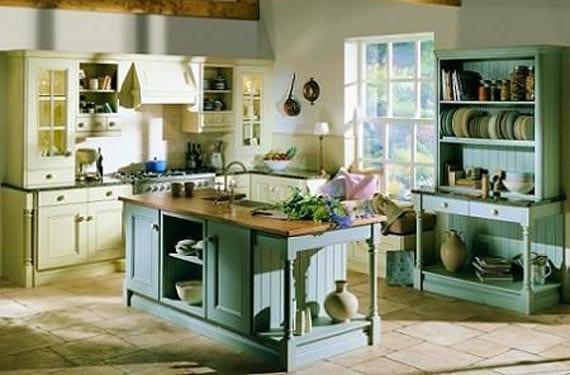 Cocinas r sticas que se atreven con el color for Como montar muebles de cocina