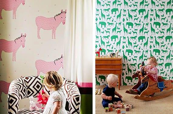 Papel pintado de animales