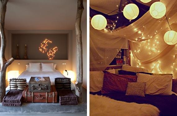 Decora tu dormitorio para la navidad - Habitaciones con luces ...