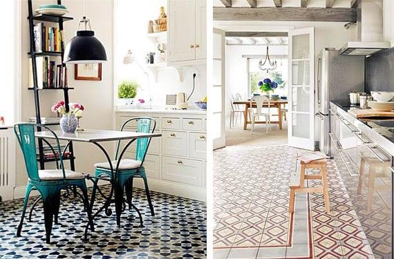 Mosaico hidr ulico para decorar los suelos de tu cocina - Piastrelle geometriche cucina ...