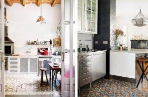 Mosaico hidráulico cocina