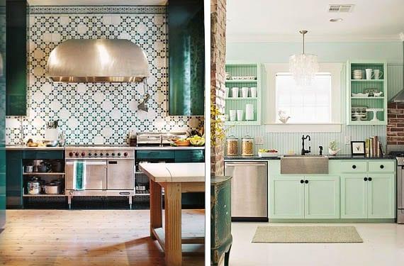 Muebles verdes para decorar tu cocina ¿te atreves?