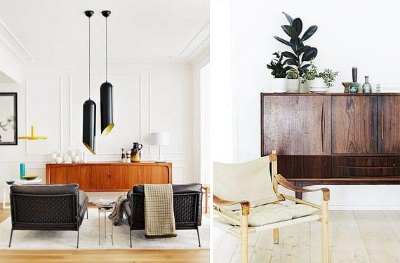 Muebles para el salón estilo Mid Century