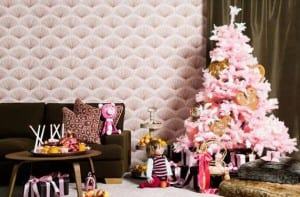 Navidades en color rosa