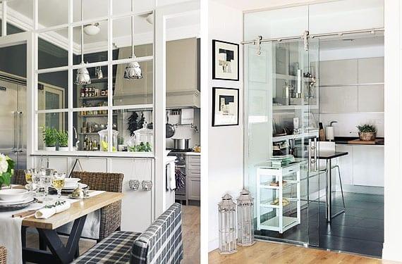 Paredes de cristal for Separacion entre cocina y comedor