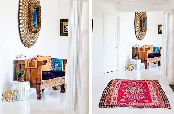 Recibidores con aires bohemios estilo y color - Colores para recibidores ...