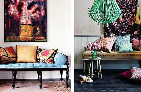 Recibidores con aires bohemios estilo y color - Recibidores con estilo ...