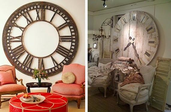 Relojes vintage en salon