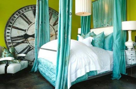 Relojes vintage en dormitorios