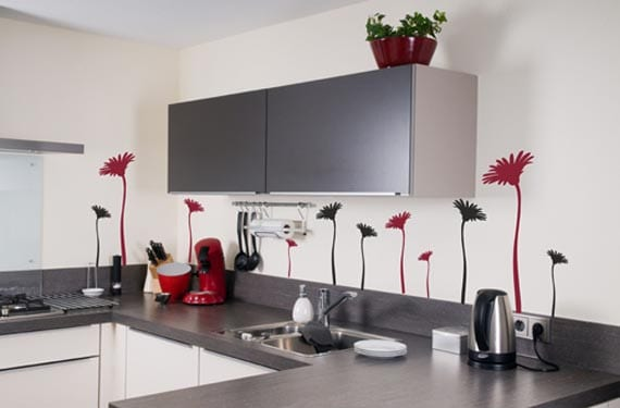 Vinilos para la cocina con flores