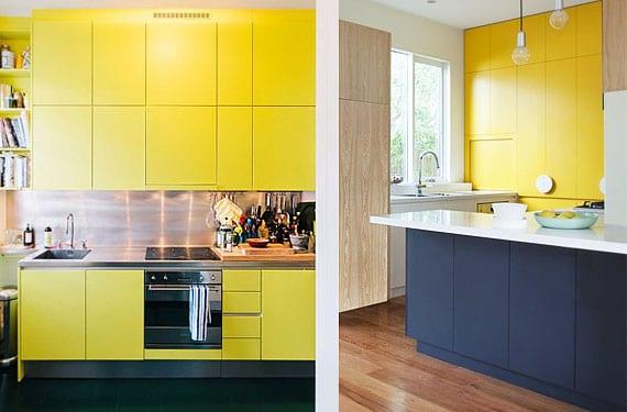ilumina tu cocina con muebles o azulejos amarillos On muebles de cocina amarillos