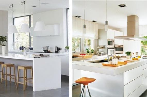Cocinas blancas y modernas
