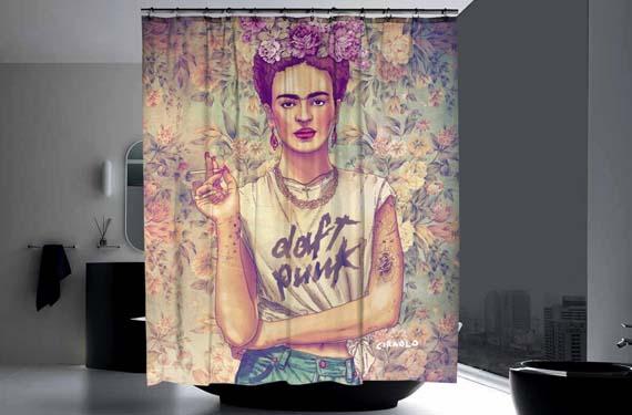 Cortinas de baño de Frida Khalo