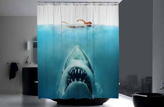 Cortinas de baño de Tiburón