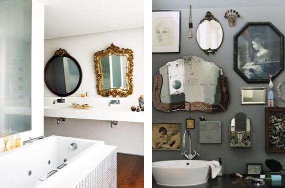 Espejos vintage mezclados
