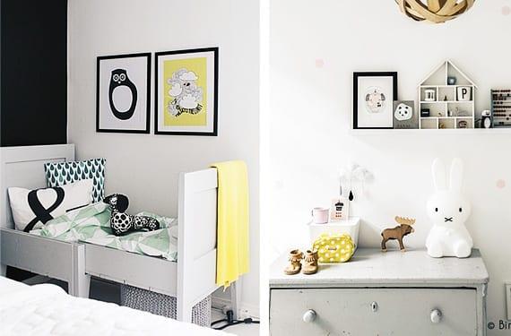 Habitaciones infantiles en tonos grises