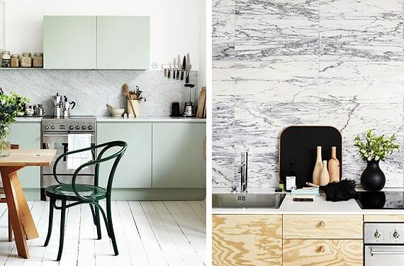 Frentes de cocina en mármol