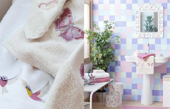 Colección de primavera en el baño