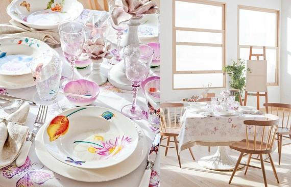 Colección de primavera en tu mesa