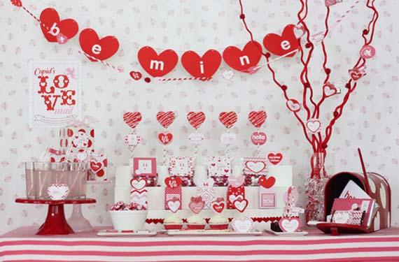 San Valentín con mesas dulces