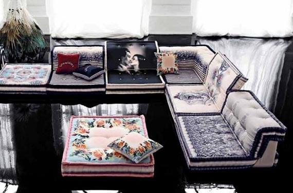 Sofás modulares en estilo moderno