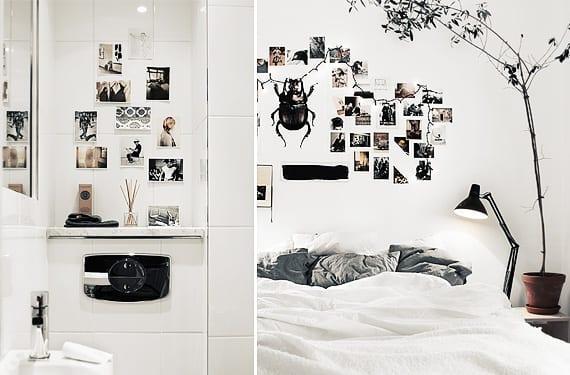 Conjunto de fotos en la pared