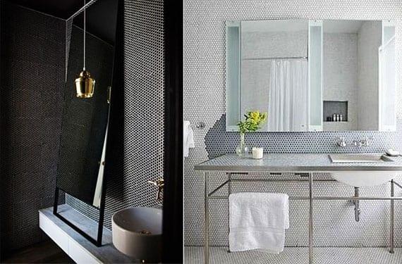 Azulejos de mosaico hexagonal para decorar tu cuarto de ba o for Mosaicos de azulejos en paredes