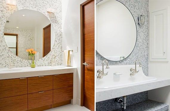 Azulejos de mosaico hexagonal para decorar tu cuarto de ba o for Cera de hormigon para azulejos de bano