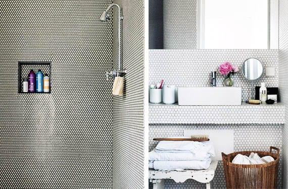 Azulejos de mosaico hexagonal para decorar tu cuarto de ba o for Azulejos cuarto de bano