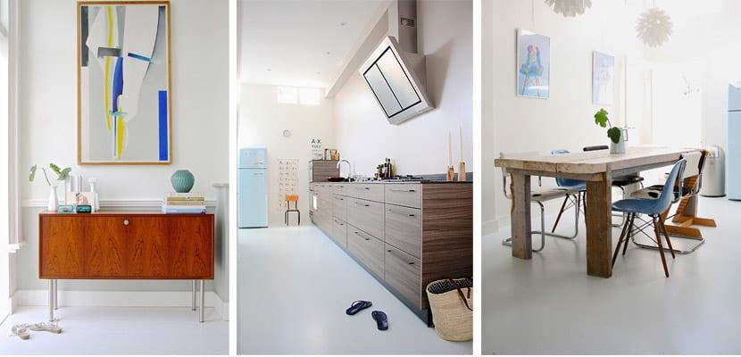 Casa de estilo escandinavo-cocina