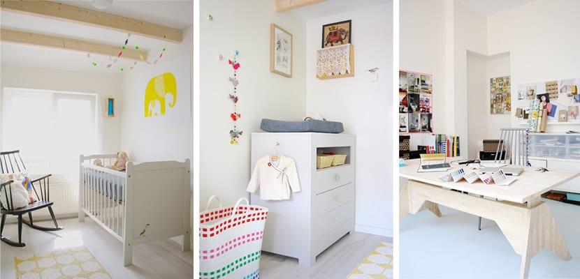 Casa de estilo escandinavo-dormitorios y despacho