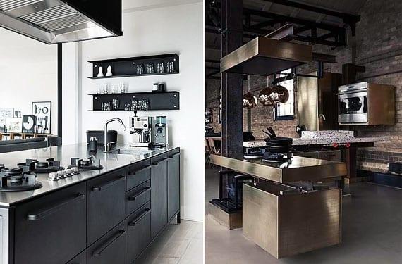Cocinas de acero inoxidable, caracter industrial