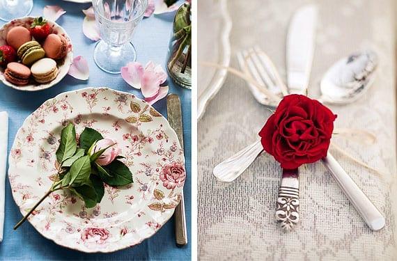 Mesas decorada para San Valentin
