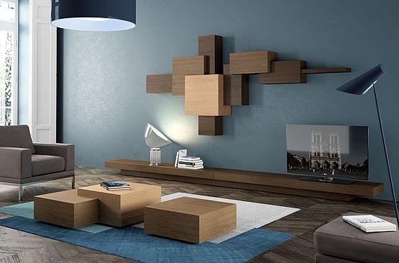 Muebles cubistas la ebanisteria para ambientes modernos - Como pintar un salon moderno ...