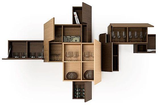 Muebles cubistas la ebanisteria para ambientes modernos for Decorar mueble salon moderno