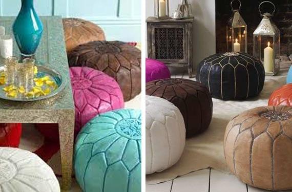 Puffs árabes de colores