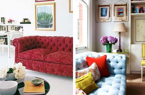 Sofá Chester de colores