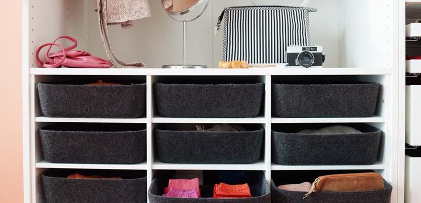Cajones para organizar tu armario