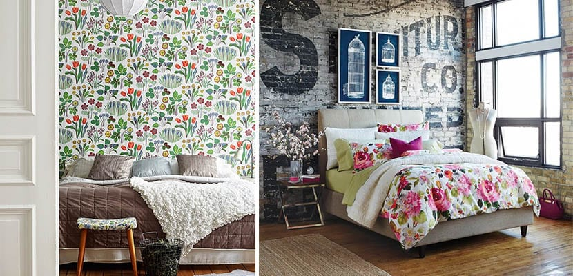Motivos florales en el dormitorio