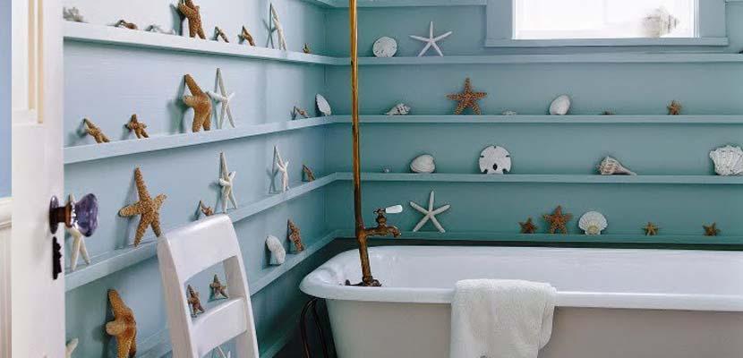 Estilo marinero en el baño