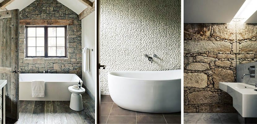 Piedra para decorar tu cuarto de ba o - Decorar paredes con piedra ...
