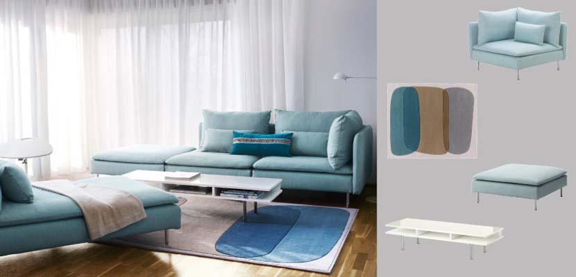 Sofás de Ikea en azul
