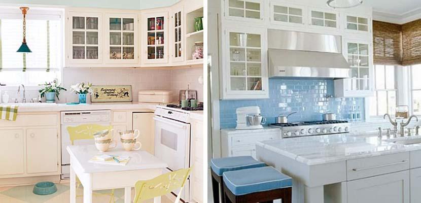 Ambientes claros en la cocina