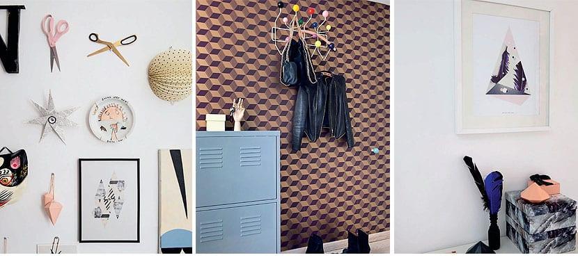 Apartamento moderno con ilustraciones
